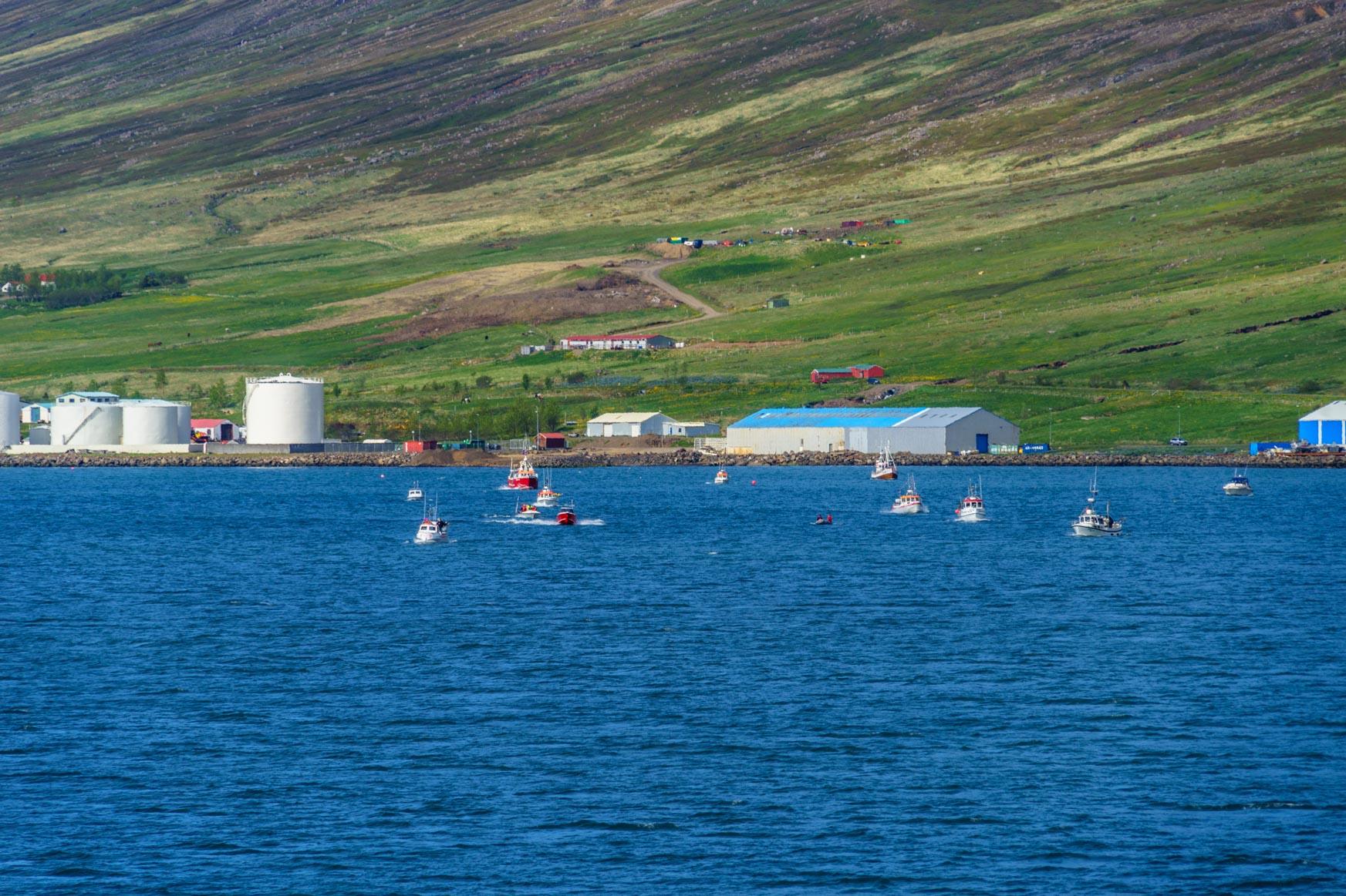 Auch die kleinen Fischerboote sind dabei