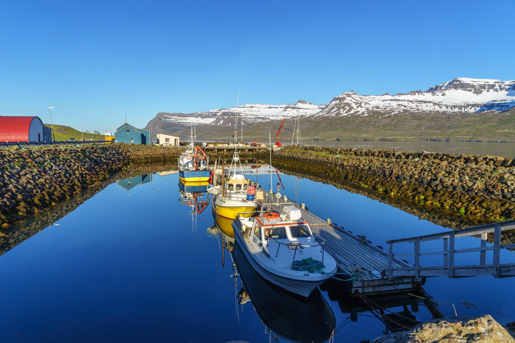 Hafen von Mjóifjörður - zu klein für uns