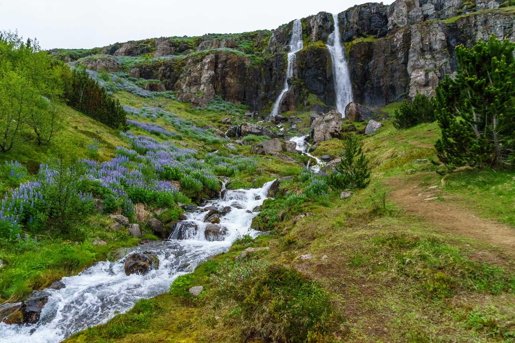 Zillingswasserfall in Seyðisfjörður