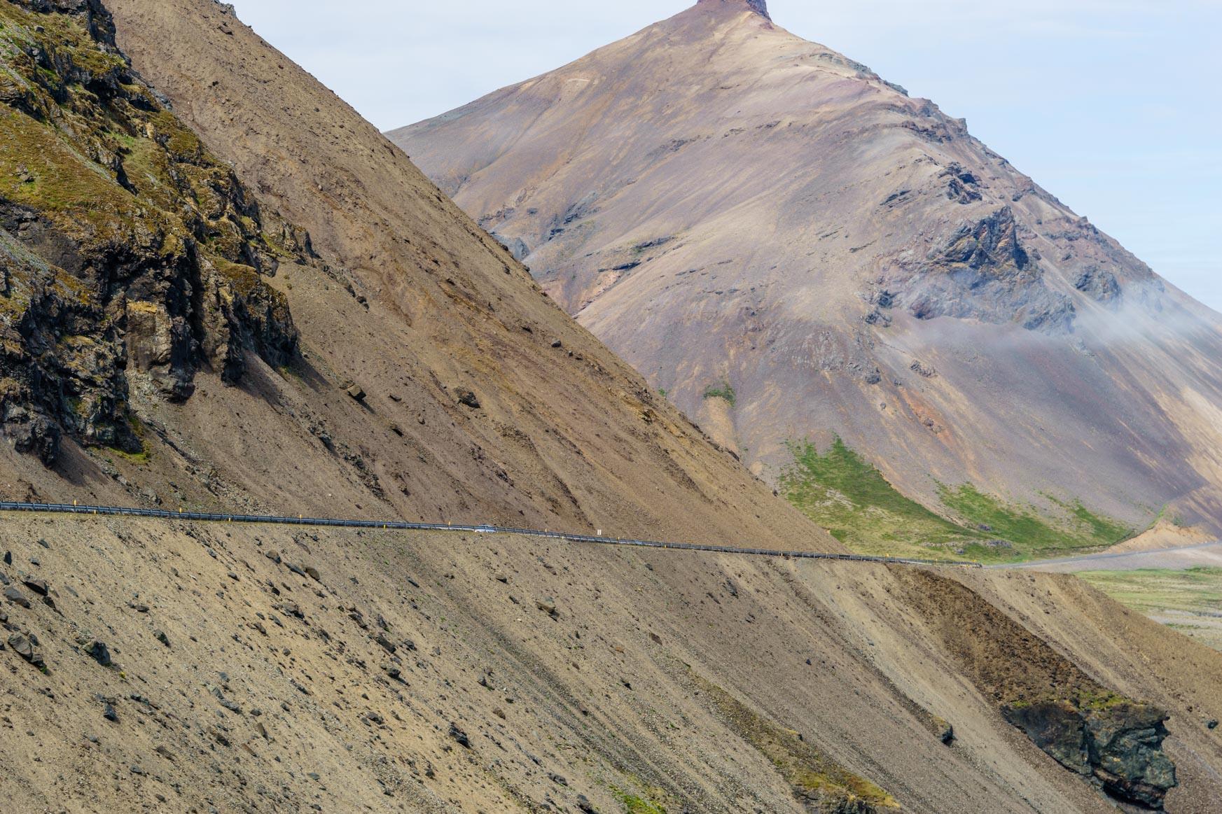 Berge wie Geröllhalden