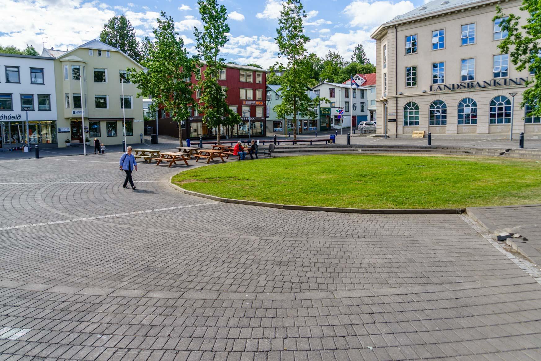 Platz in der Fußgängerzone
