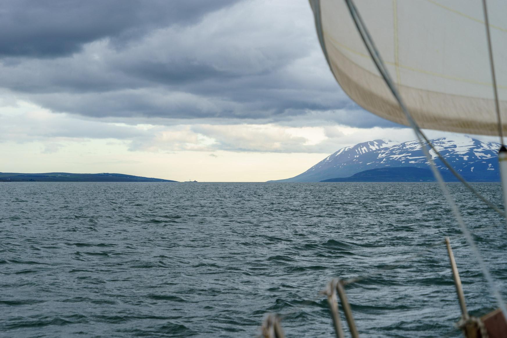 ... und Blick voraus zum Fjordausgang