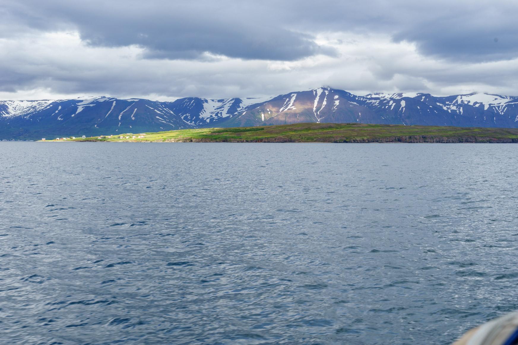 Insel Hrisey - die Südspitze liegt in der Sonne