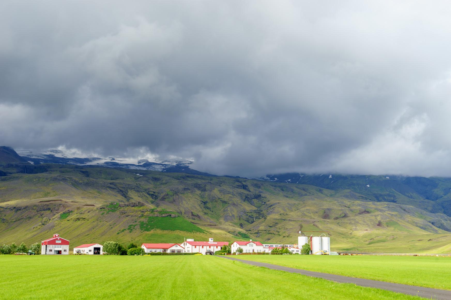 Farm unterhalb des Eyjafjallajökulls