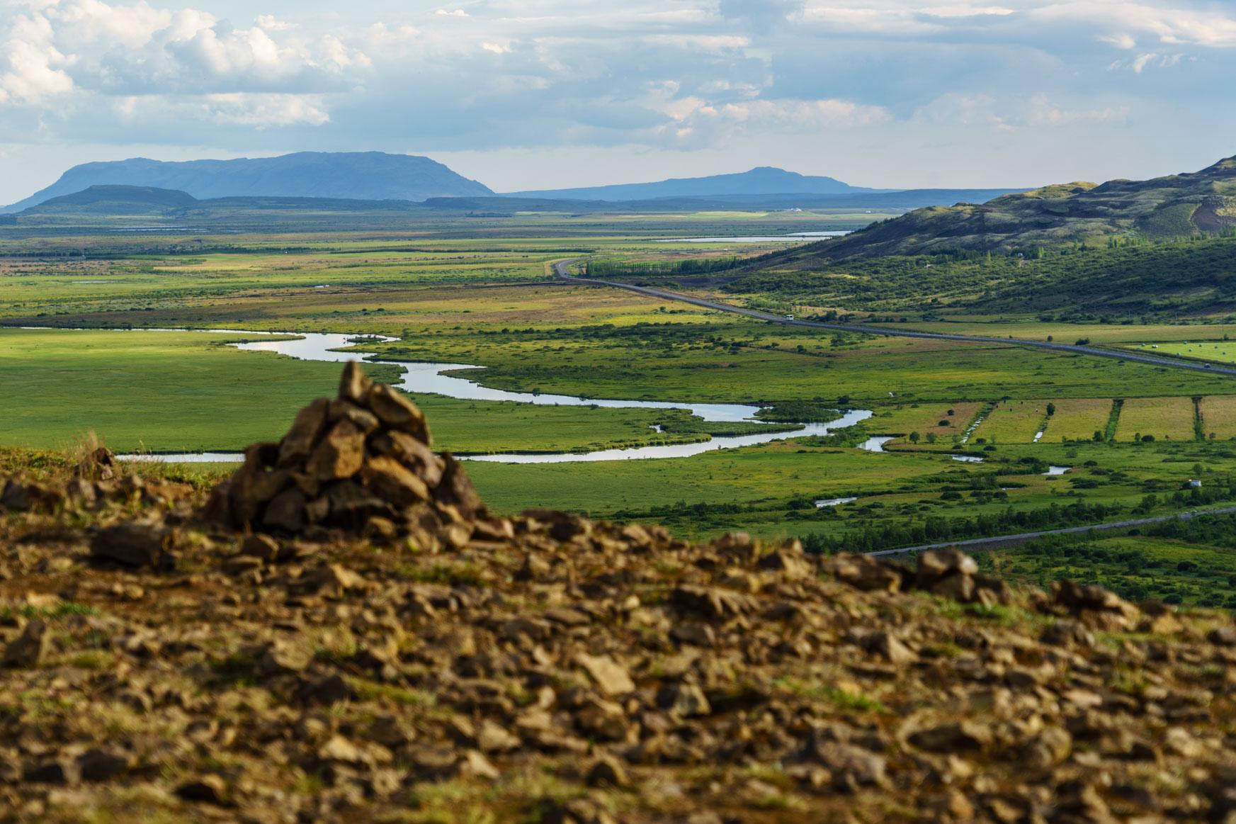 Tal Haukadalur - ganz in der Nähe von Geysir