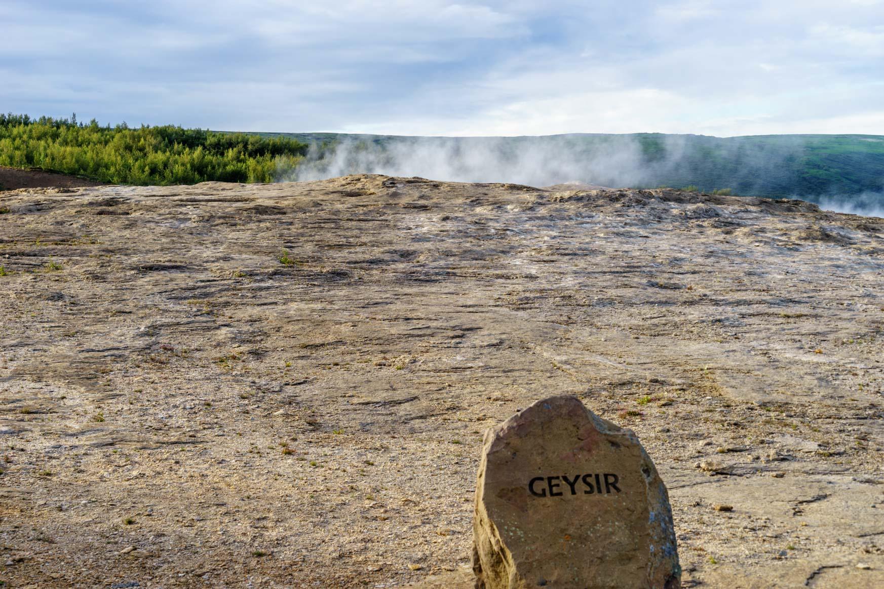 Geysir - außer Betrieb ;-)