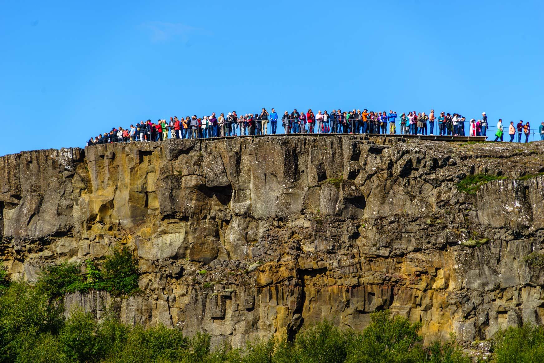 Aussichtspunkt in Þingvellir