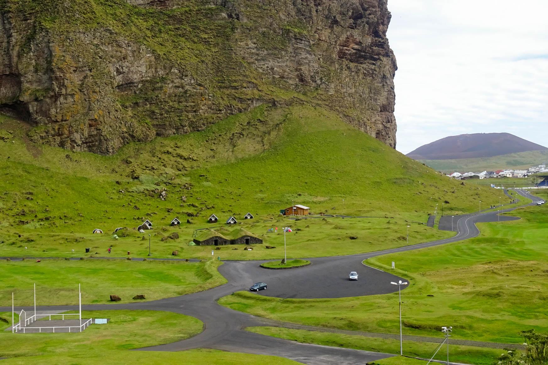 Campingplatz von Vertsmannaeyjar