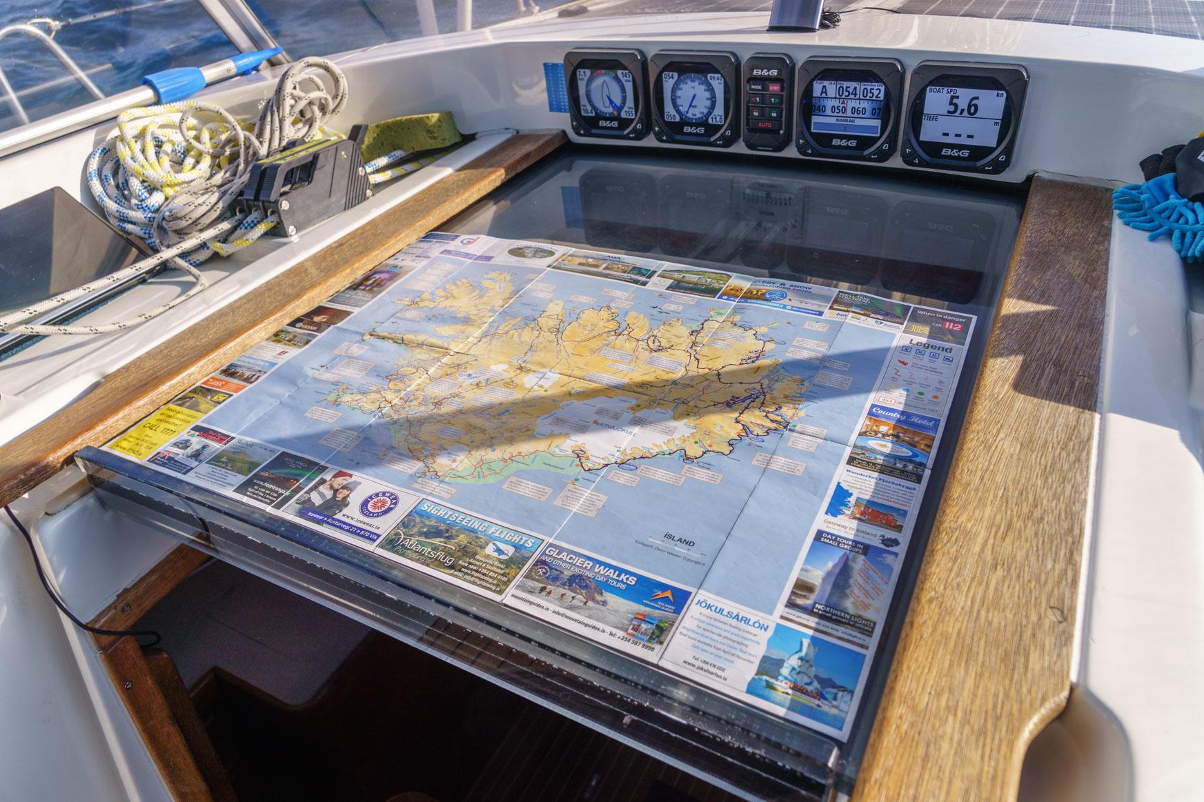 Heute mal Navigation mit Landkarte