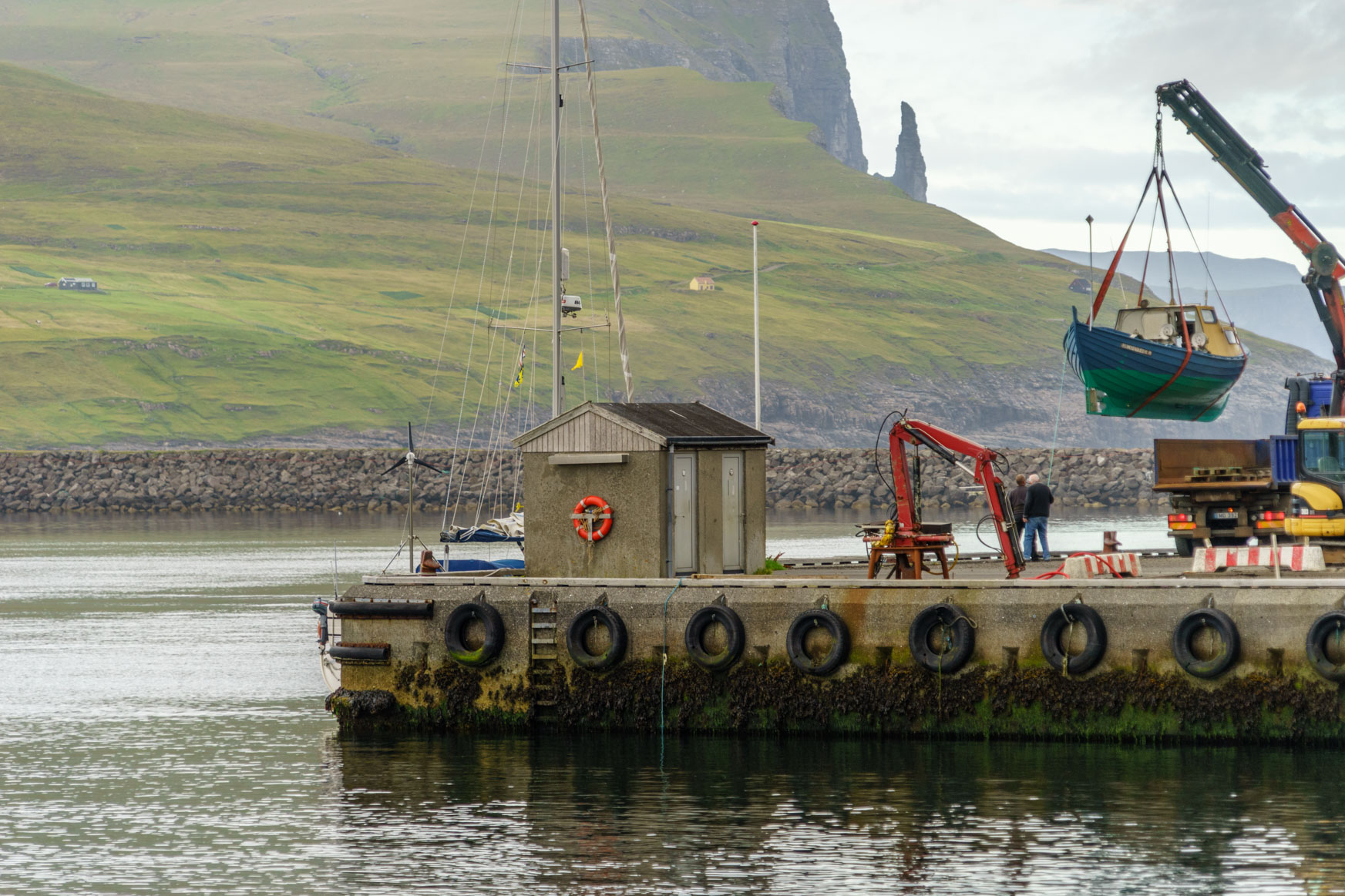 Liegeplatz in Miðvágur